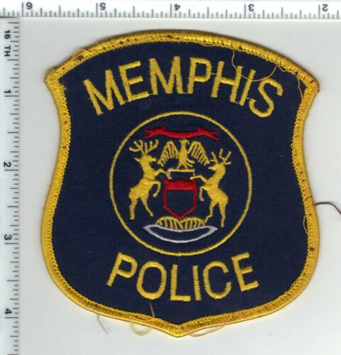Memphis Police (Michigan) Uniform Take-Off Shoulder Patch from the 1980