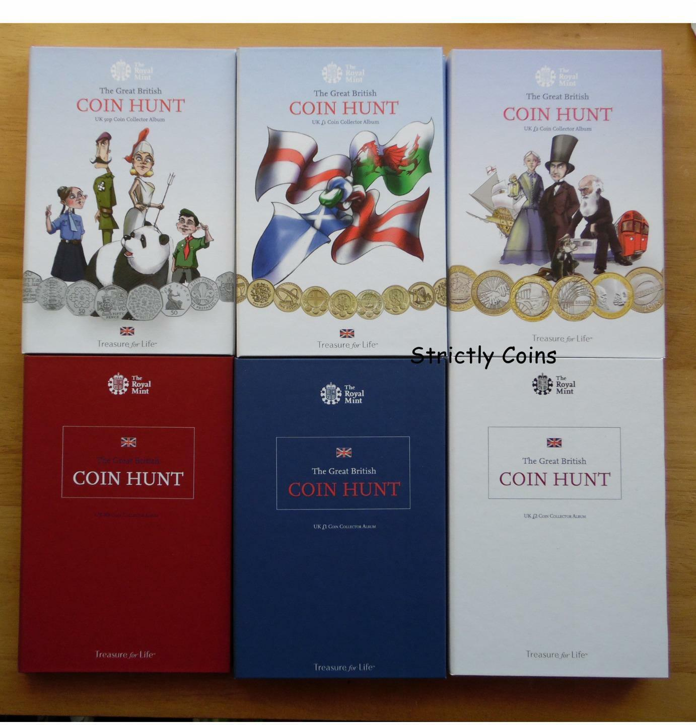 2016/17 50p £1 £2 Coin Hunt Album Folder + Both Royal Mint Olympic + Lighthouse