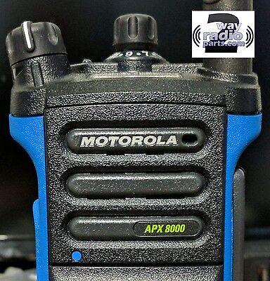 Genuine Motorola Apx8000 Black Refresh Speaker Grille Kit Nameplate Included