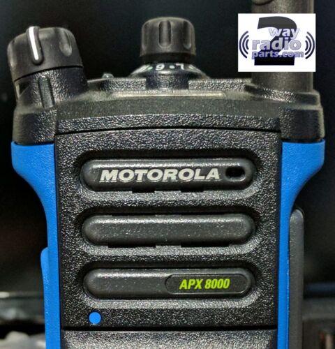 Genuine Motorola APX8000 Black Refresh Speaker Grille Kit Nameplate included !
