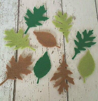 Green & Brown Leaf, Leaves, die cut felt, felt leaves, die cut leaves, applique