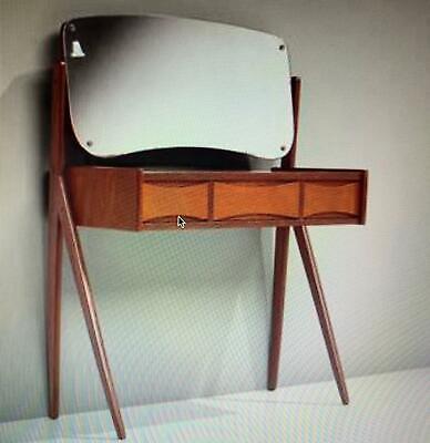 Arne Vodder Danish Vintage Teak Dressing Table Vanity Unit MCM 1960s