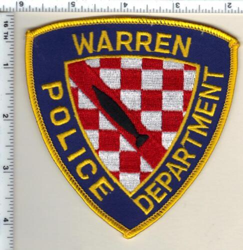 Warren Police (Rhode Island) Shoulder Patch from 1991