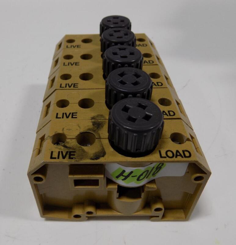 WEIDMULLER 16A 400V TERMINAL BLOCK SAKS 4 LOT OF 5