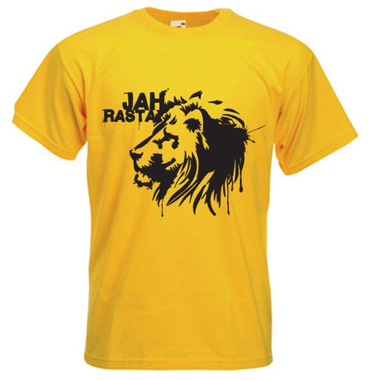 JAH RASTAFARI LONG SLEEVE T-SHIRT Reggae Rasta Lion of Judah Rastafarian