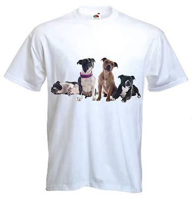 STAFFORDSHIRE BULL TERRIERS T-SHIRT - Staffie Staff Terrier Staffy - S to 3XL