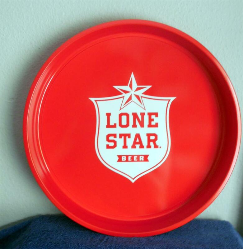 "Lone Star Beer New 13"" Metal Serving Tray ... Red/White...Texas, Brewer"