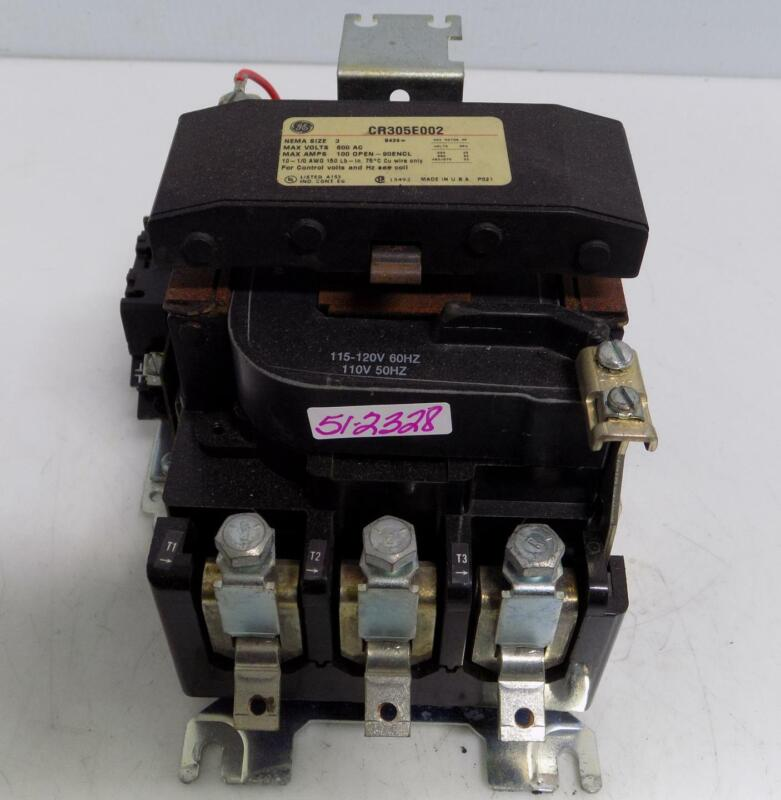GENERAL ELECTRIC NEMA SIZE 3 CONTACTOR CR305E002