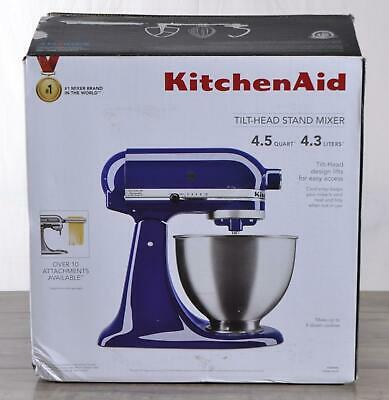 NEW KitchenAid KSM88BU Tilt-Head Stand Mixer 4.5 Quart Bowl 300W 10 Speed Blue