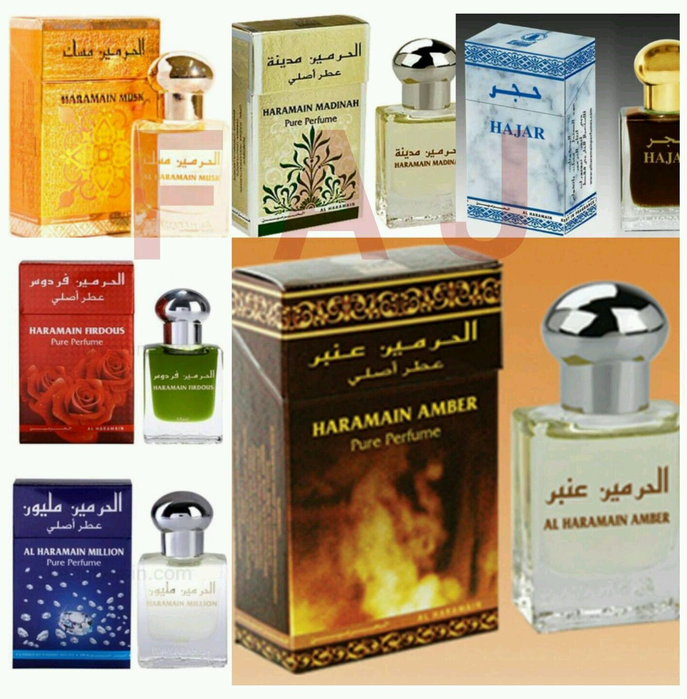 Al Haramain Concentrated Arabian Perfume,attar,itr, Non-alcoholic Fragrance Oil Image