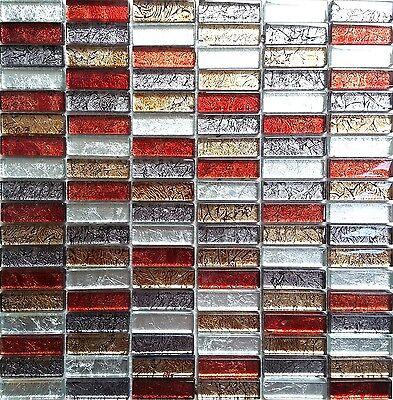 Glass Hong Kong Autumn Brick Bathroom Kitchen Mosaic Wall Tiles Sheet MT0006