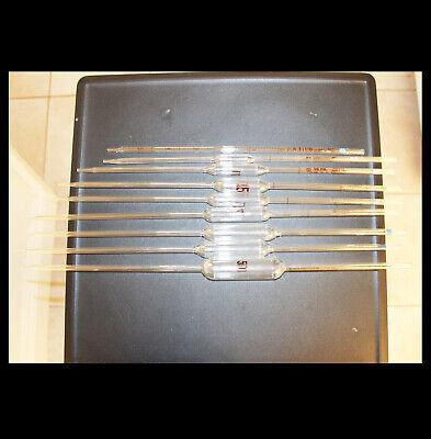 Pyrex Fisher Kimax Corex Glass Bulb Reusable Volumetric Pipette Pipet 9pk