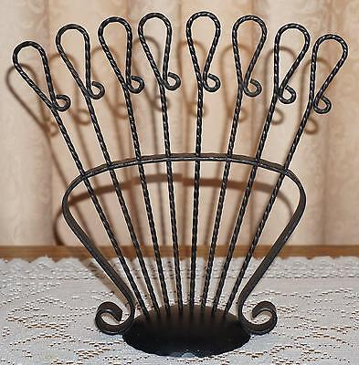 Set of 8 Hand Forged Twisted Iron Skewers w/ Stand Kabob BBQ Marshmallow Fondue (Twisted Marshmallows)
