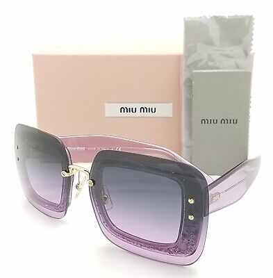 New Miu Miu sunglasses MU 01RS 101153 67mm Purple Violet Gradient GENUINE women