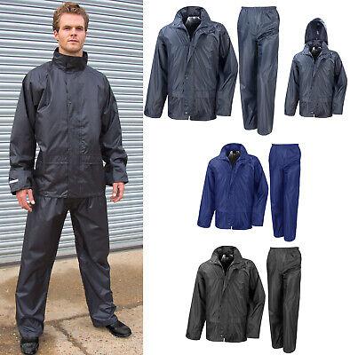 Waterproof Adults Suit Jacket & Trousers Packaway Rain Set Womens Mens Ladies