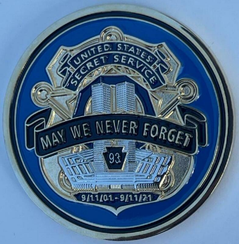 2021 USSS US Secret Service 9/11 20th Anniversary Challenge Coin