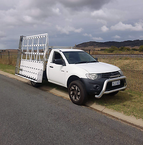 2009 Mitsubishi Triton with a glaziers A-Frame Bungendore Queanbeyan Area Preview