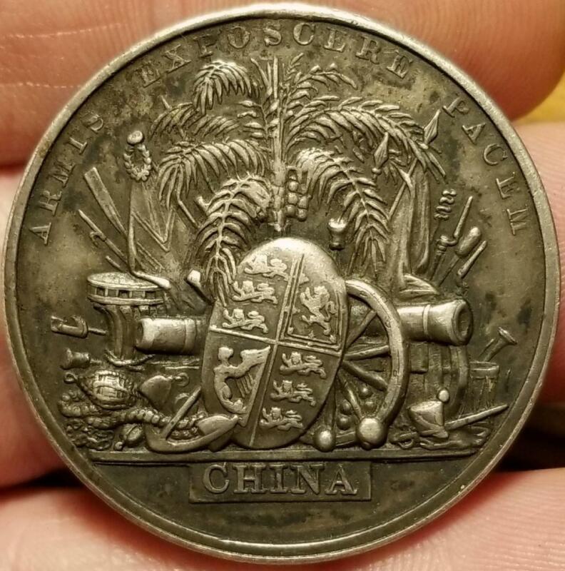 1861 SECOND CHINA WAR SILVER Medal BRITISH ROYAL NAVY MARINES CHINESE OPIUM WAR