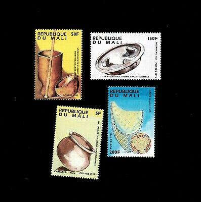 VINTAGE CLASSICS - Mali 1995 - Cooking Utensils - Set of 4 Stamps - MNH