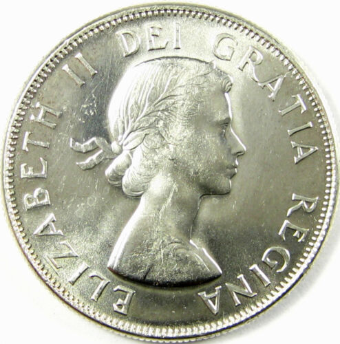 1959  Canada 50 Cents  Km# 56  Silver  MS+ Prooflike