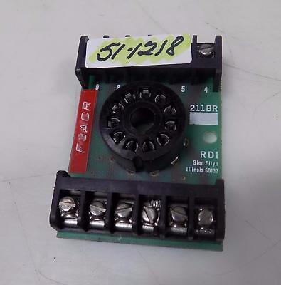 RDI 11 PIN ROUND RELAY SOCKET 211BR 11-pin Relay Socket
