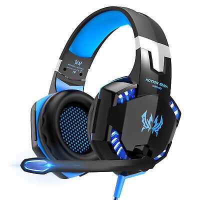 3.5mm Gaming Kopfhörer mit Mikrofon LED Headset für PC Laptop PS4 Xbox One 360 Gaming Headset Pc