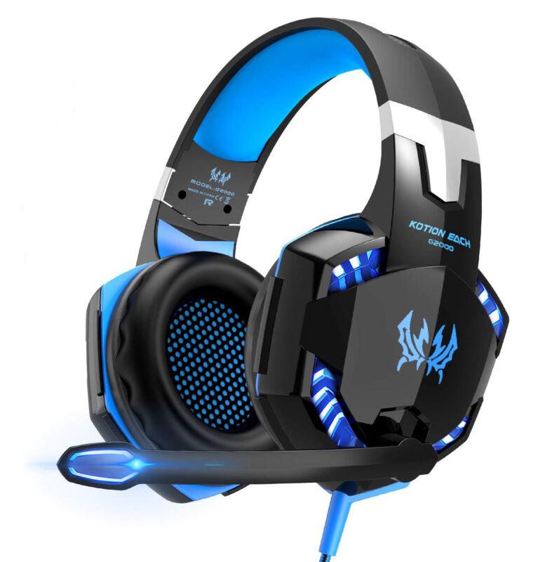 3.5mm Gaming Kopfhörer mit Mikrofon LED Headset für PC Laptop PS4 Xbox One 360