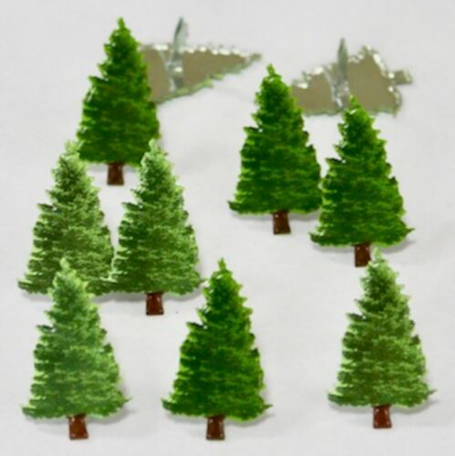 FIR PINE TREE BRADS Winter Christmas Scrapbooking Card Making Stamping
