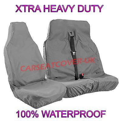 FORD TRANSIT (06-13) MK7 PANEL VAN - HEAVY DUTY GREY WATERPROOF VAN SEAT COVERS