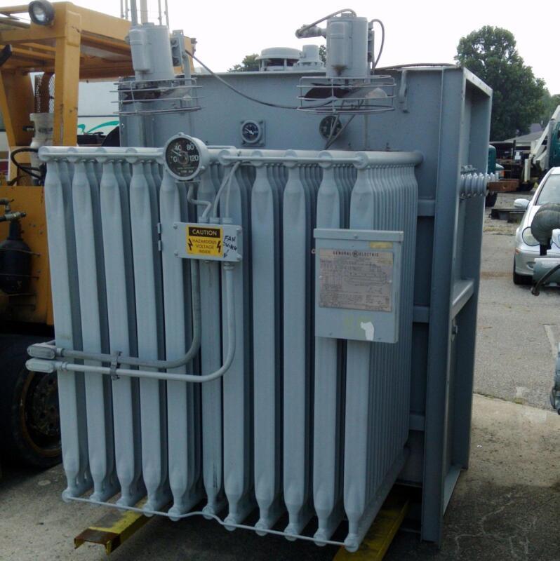 GENERAL ELECTRIC 3PH CLASS OA/FA 2000/2300/2576KVA TRANSFORMER R 277253 B