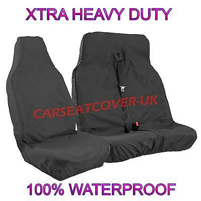 FORD TRANSIT CONNECT (13 ON) LIMITED H.DUTY WATERPROOF BLACK VAN SEAT COVERS