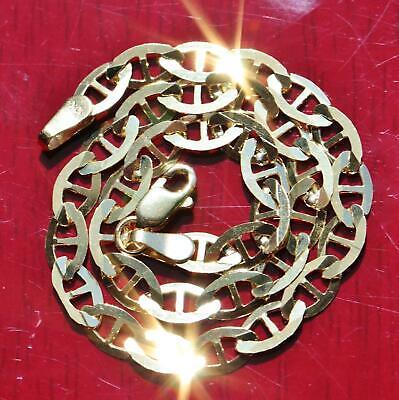 "10k 417 yellow gold solid gucci link chain bracelet 7.0"" vintage 2.4gr"