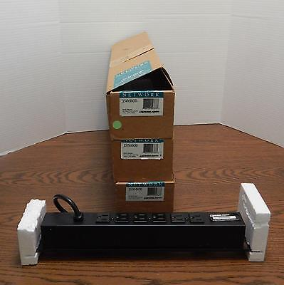 Three JS06B0B Rack Mount 6 Rear Outlets Network Surge Protection Devices NIB ()
