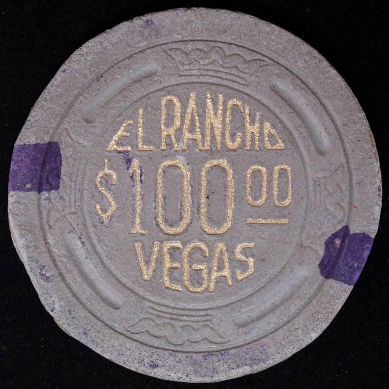 Rare El Rancho Vegas $100 Casino Chip 9th   Issue