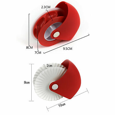 Pastry Wheel Cutter (Pastry wheel decorator (Set of 2) , Pastry Wheel Cutter (Cutter + decorator ))