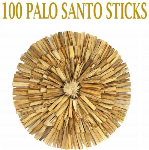 100 PALO SANTO STICKS - 100 Pack - HOLY WOOD INCENSE STICKS - WHOLESALE BULK LOT