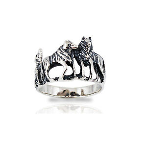 Wolf pack ring - photo#3
