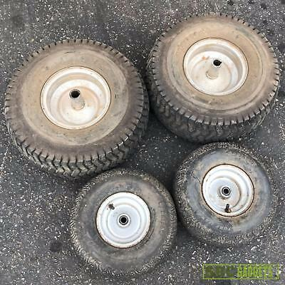 Set of Front and Rear Tire & Wheels for Riding Lawn Mower Tractor