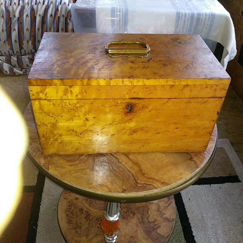 """19th century Large Solid Birdseye Maple Box L12 3/4"""" W7"""" H6 3/4"""" Price Reduced!"""