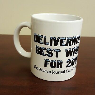 2007 Ajc Atlanta Journal Constitution Coffee Mug Delivering Best Wishes