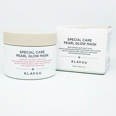KLAVUU Special Care Pearl Glow Mask 100ml Moisturizing Smooth Wash Off K-Beauty