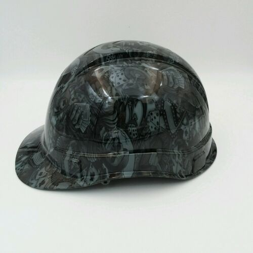 Hard Hat custom hydro dipped ,DEALERS CHOICE STEEL GREY BULLARD OSHA APPROVED 1