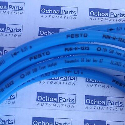 Festo 197387 Plastic Tubing Lot Of 10 Meters Pun-h-12x2-bl Blue