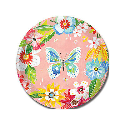 PAPER PARTY PLATES NEW Butterfly Girly Dessert Appetizer