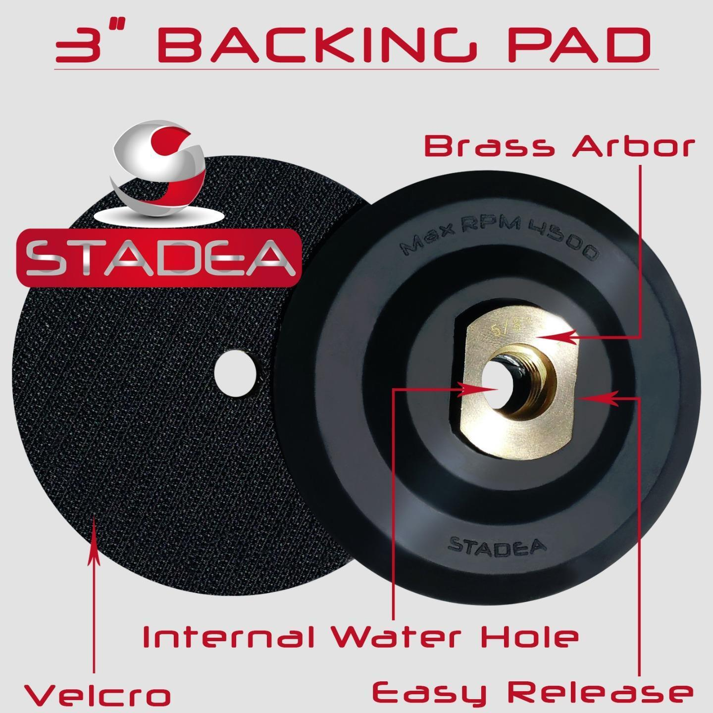 """Stadea 5 inch Rubber Backing Pad Semi Flexible Backer Pad with 5//8/"""" 11 Thread"""