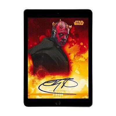 Topps Star Wars Card Trader DIGITAL Darth Maul Stellar Signature Orange Auto