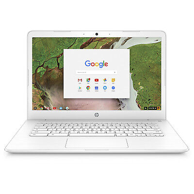 Hewlett Packard Chromebook 14-inch Laptop, Intel Celeron N3350, 4 GB RAM