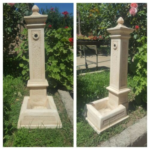 Fontana piccola in pietra cemento H 82 rustico moderno giardino rustica moderna
