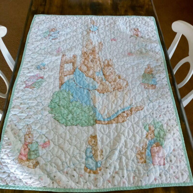 Beatrix Potter Peter Rabbit Beautiful Nursery Quilt
