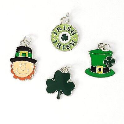 St Patricks Day 12 Charms Set Irish Embellishments Crafts Scrapbooking - Saint Patricks Day Crafts